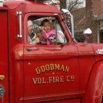 Christmas parade fire trucks